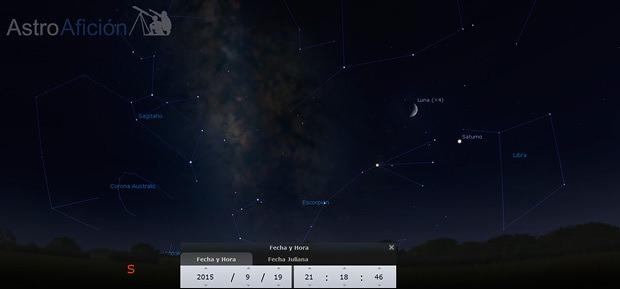 Conjunción Luna Saturno 19 de Septiembre de 2015