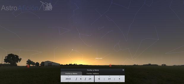 Mercurio al alba