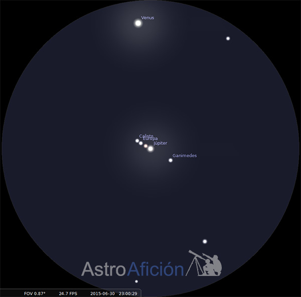 Jupiter-Venus-a-traves-telescopio