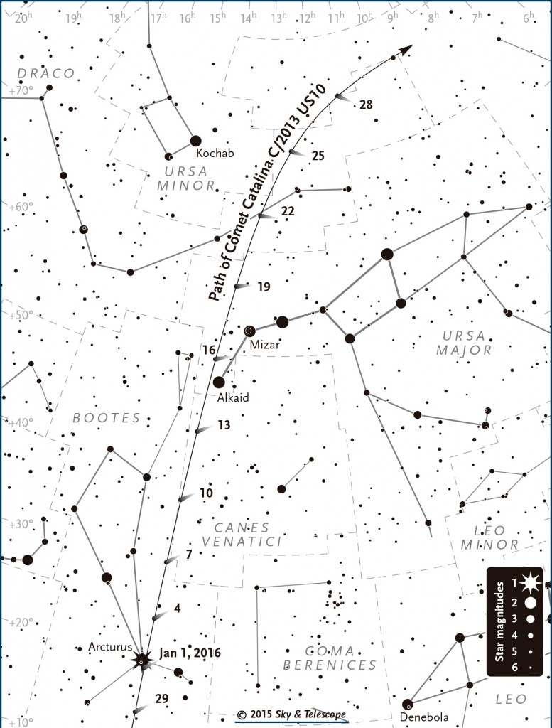 cometa catalina enero 2016