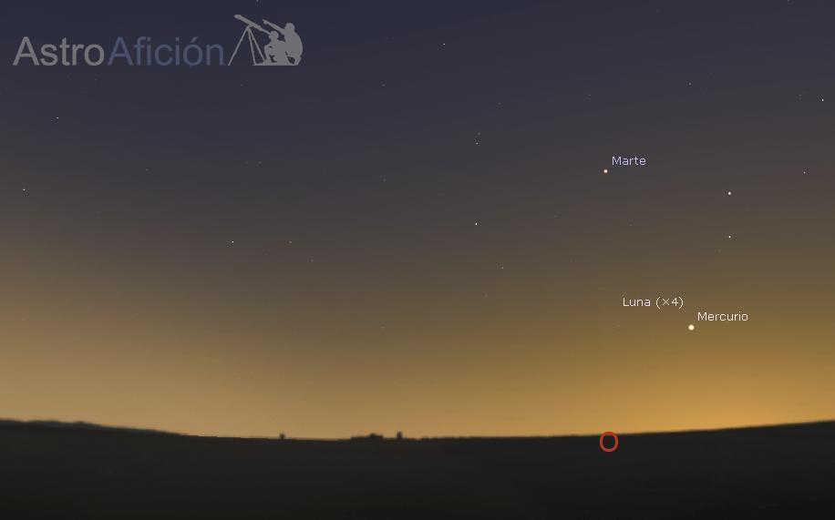 Conjunción Mercurio-Luna