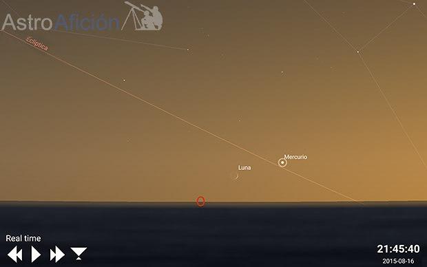 conjuncion luna mercurio 16 Agosto 2015