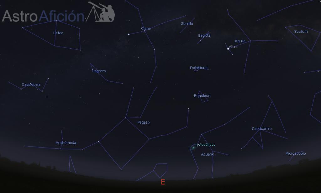 Lluvia meteoros de Eta Acuáridas