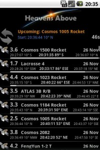 astronomía en el móvil apps