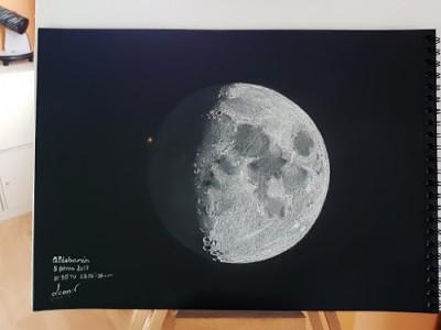 Ocultación de Aldebarán por la Luna. Leonor Ana Hernández