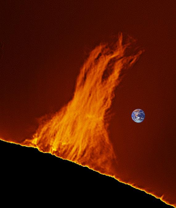 Sol y Tierra a escala. Jesús Carmona - fobos
