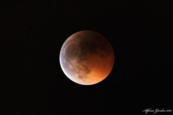 El Eclipse de Luna visto por Candela