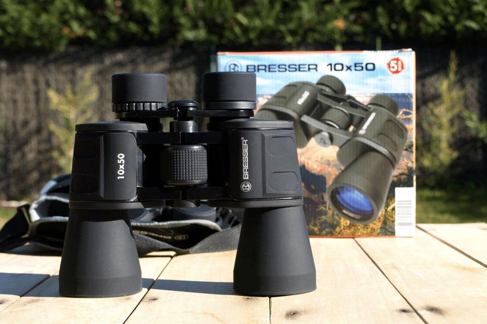 Los prismáticos del Lidl: Bresser 10×50
