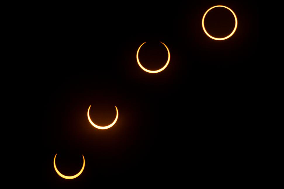 Eclipse anular de 2005. Foto: Julio Hoya