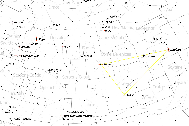 Propuestas de observación para el cielo de mayo