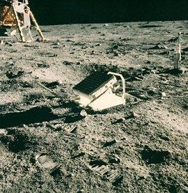 paneles espejo en la Luna - Apollo XI