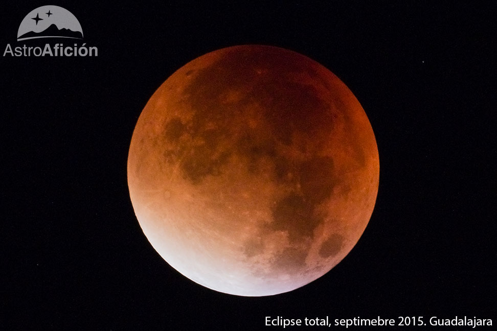 Eclipse total de luna en septiembre de 2015