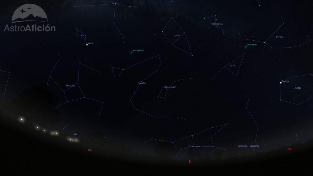 Radiantes de las lluvias de meteoros de agosto de 2018
