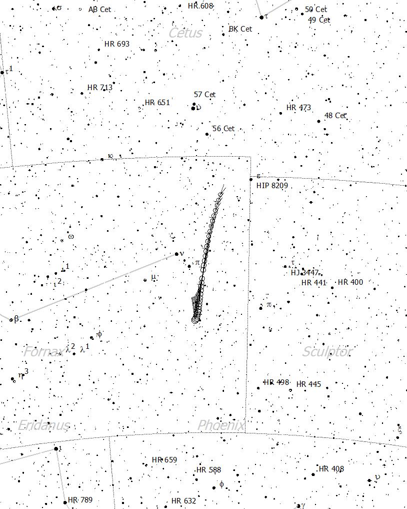 Localización cometa 46P/Wirtanen