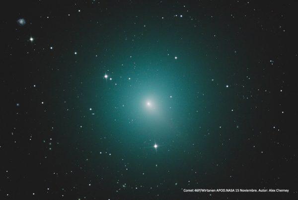 Cometa 46/P Wirtanen APOD NASA 15 noviembre de 2018. Autor: Alex Cherney