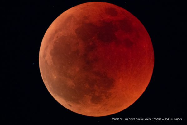 Eclipse de Luna desde Guadalajara julio de 2018