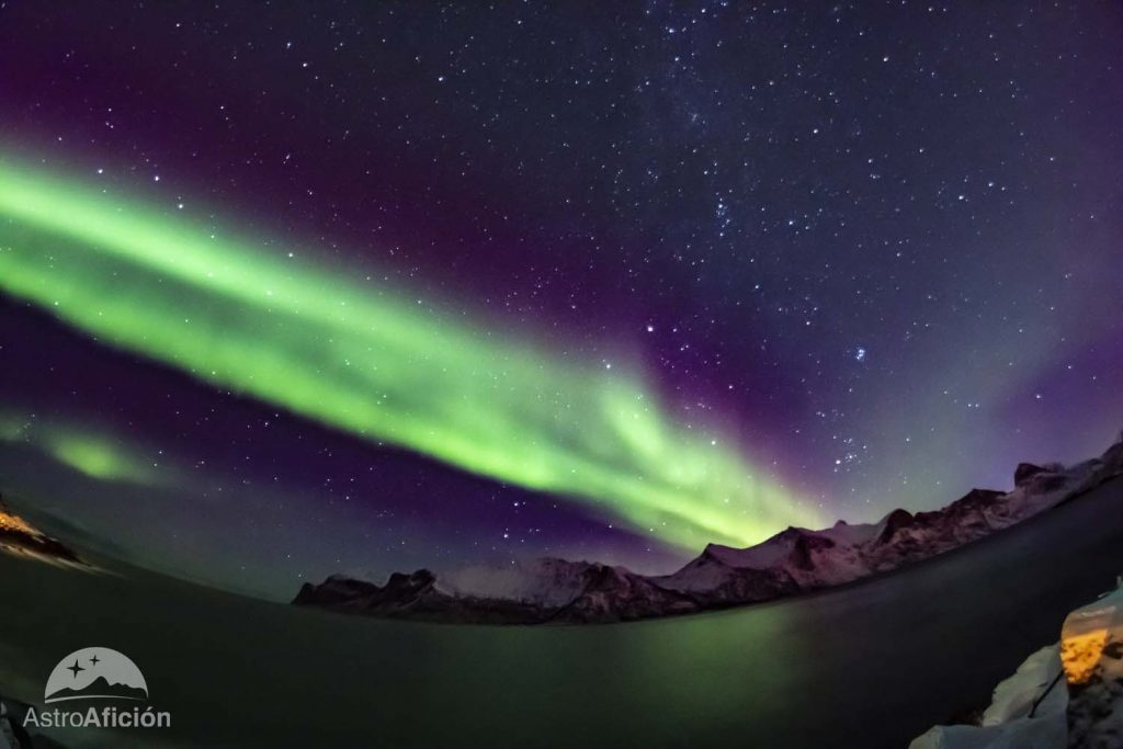 los colores de la aurora boreal