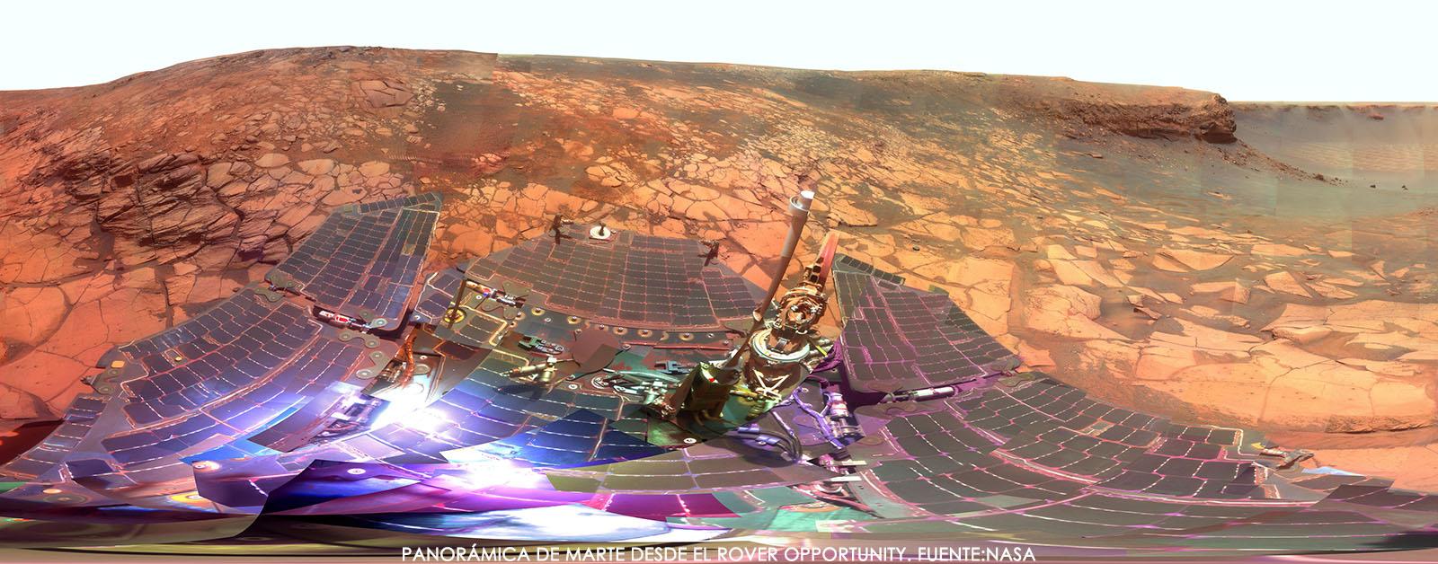 Panorámica marciana desde el rover Opportunity