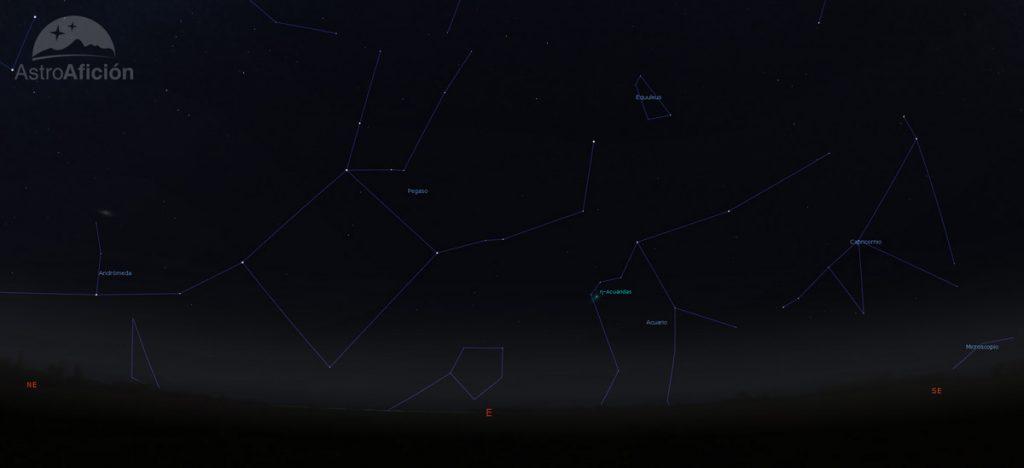 Radiante de la lluvia de meteoros eta-acuaridás (ETA)