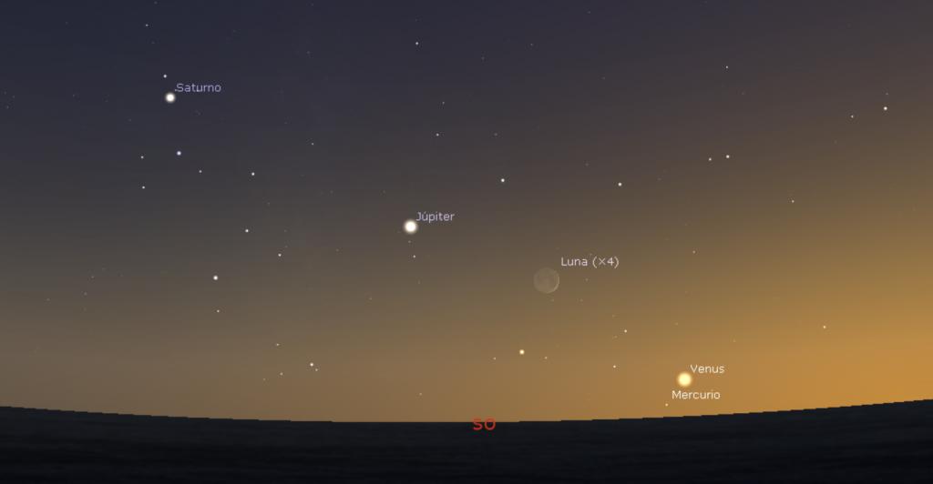 Alineación planetaria 30 de octubre