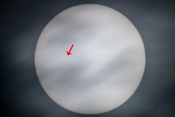 Tránsito de Mercurio por el Sol 11 noviembre 2019