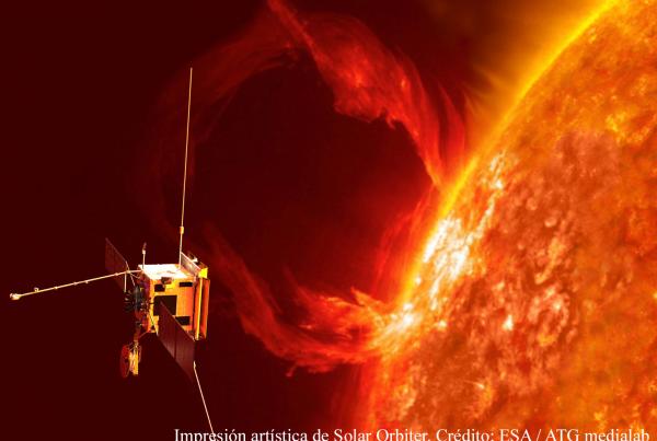 Representación de la sonda Solar Orbiter