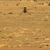 Drone Ingenuity sobrevolando Marte