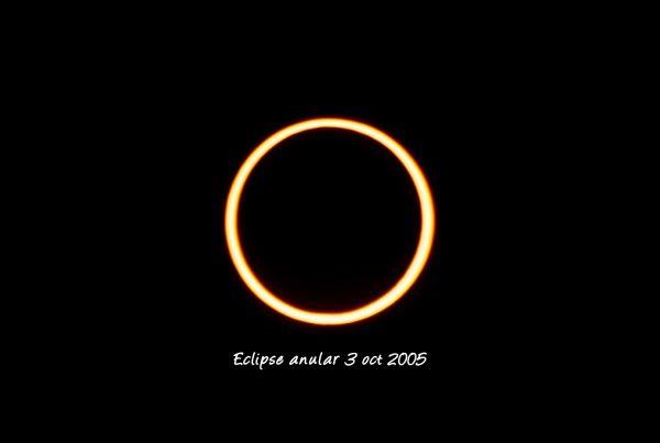Eclipse de Sol anular octubre 2005